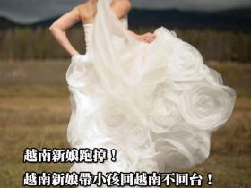 越南新娘跑掉!越南新娘帶小孩回越南不回台、拿到身分證就離婚的真相!
